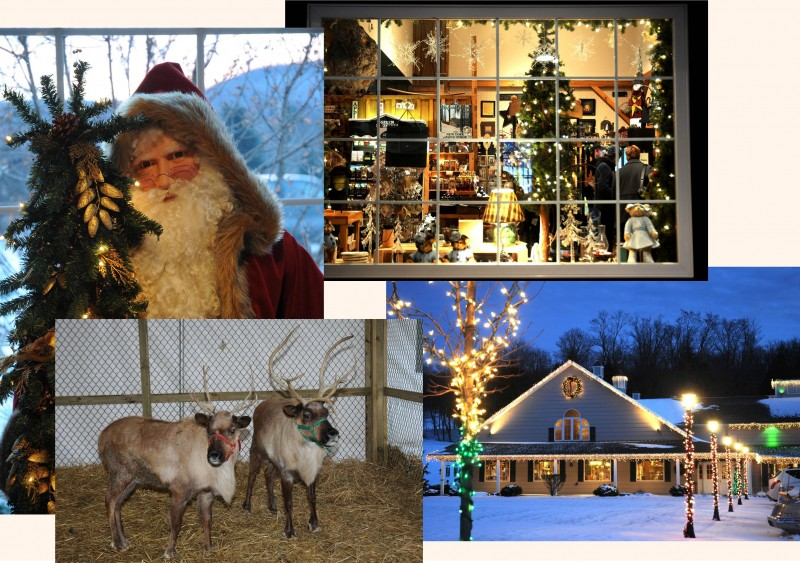 Christmas Collage at Sprague's Maple Farms