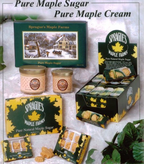 Pure Maple Sugar and Creams