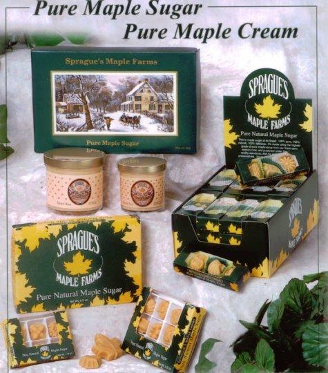 Pure Maple Sugar and Creams