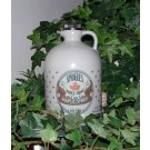 Half-gallon of pure maple syrup in plastic decanter