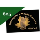 Sprague's Maple Farm's $25 Gift Card for 2009